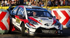 Rally di Germania, la Toyota di Tanak in testa, cinque Wrc2 nella top ten