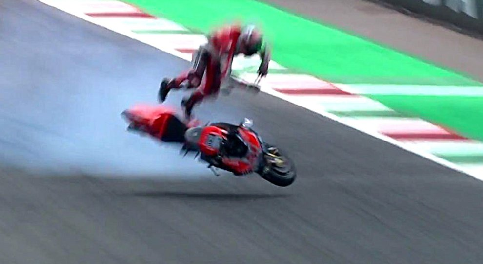 MotoGP, brutto incidente per Pirro al Mugello