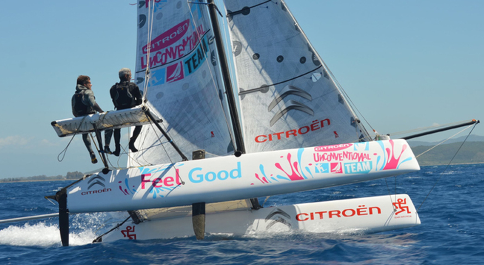 Vittorio e Nico Malingri sul catamarano Feel Good
