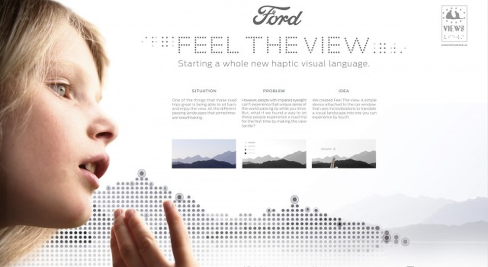 Il finestrino diventa tattile con Ford Feel The View