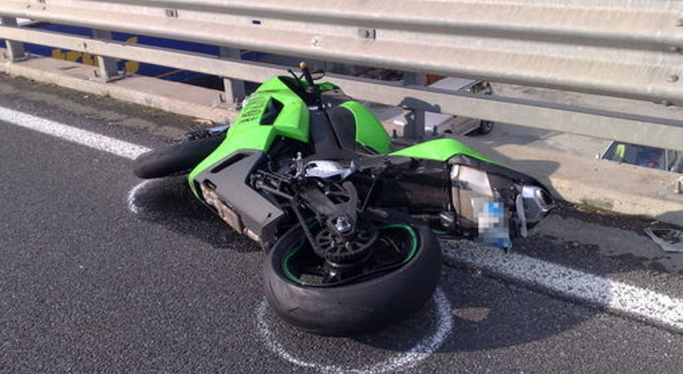 Un incidente motociclistico