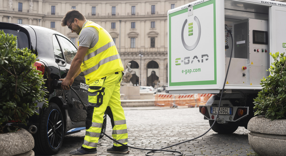 La ricarica on demand E-Gap per auto elettriche